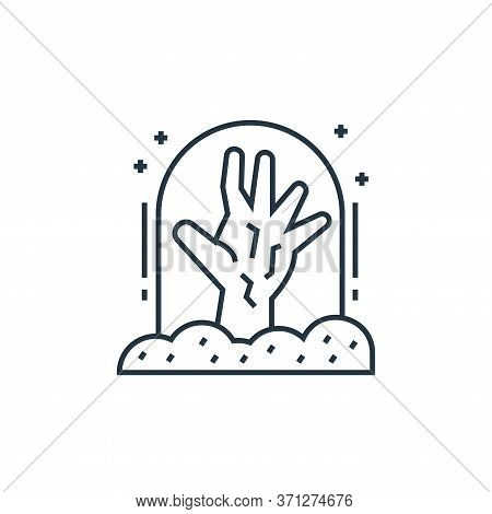Graveyard Vector Icon. Graveyard Editable Stroke. Graveyard Linear Symbol For Use On Web And Mobile