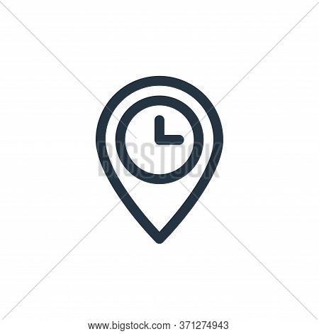 Arrival Time Vector Icon. Arrival Time Editable Stroke. Arrival Time Linear Symbol For Use On Web An