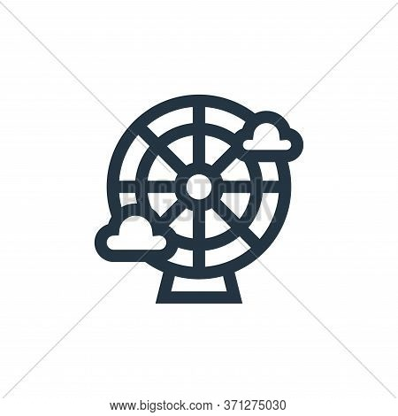 Ferris Wheel Vector Icon. Ferris Wheel Editable Stroke. Ferris Wheel Linear Symbol For Use On Web An