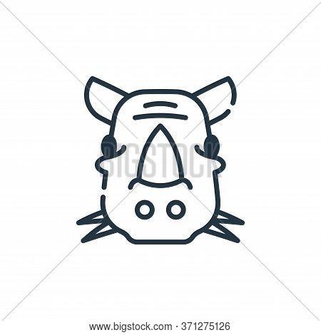 Rhinoceros Vector Icon. Rhinoceros Editable Stroke. Rhinoceros Linear Symbol For Use On Web And Mobi