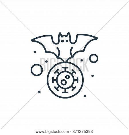 Bat Vector Icon. Bat Editable Stroke. Bat Linear Symbol For Use On Web And Mobile Apps, Logo, Print