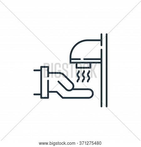 Hand Dryer Vector Icon. Hand Dryer Editable Stroke. Hand Dryer Linear Symbol For Use On Web And Mobi