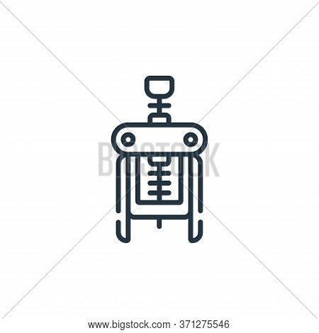 Corkscrew Vector Icon. Corkscrew Editable Stroke. Corkscrew Linear Symbol For Use On Web And Mobile
