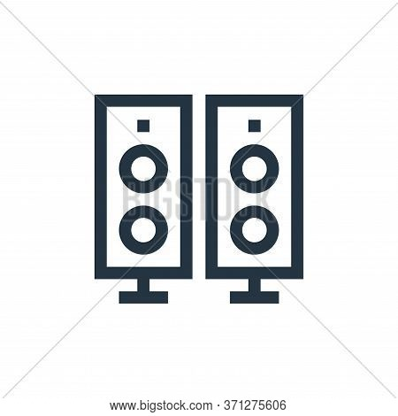 Speaker Vector Icon. Speaker Editable Stroke. Speaker Linear Symbol For Use On Web And Mobile Apps,