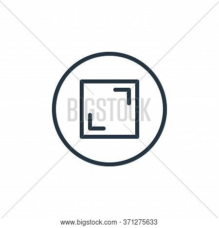Full Screen Vector Icon. Full Screen Editable Stroke. Full Screen Linear Symbol For Use On Web And M