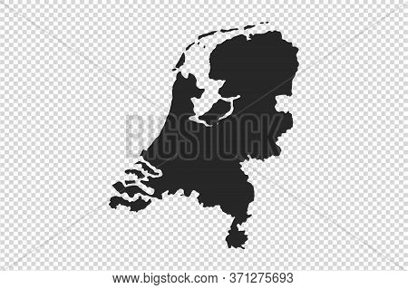 Netherlands  Map With Gray Tone On   Png Or Transparent  Background,illustration,textured , Symbols