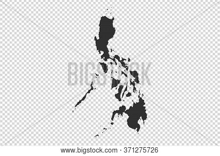 Philippines  Map With Gray Tone On   Png Or Transparent  Background,illustration,textured , Symbols