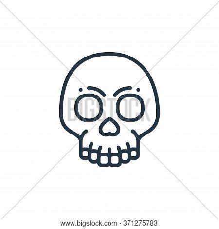 Skull Vector Icon. Skull Editable Stroke. Skull Linear Symbol For Use On Web And Mobile Apps, Logo,
