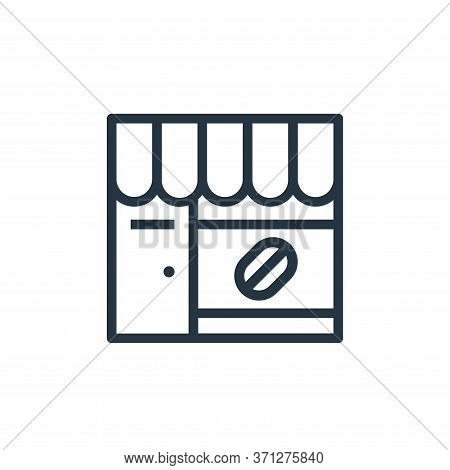 Coffee Shop Vector Icon. Coffee Shop Editable Stroke. Coffee Shop Linear Symbol For Use On Web And M