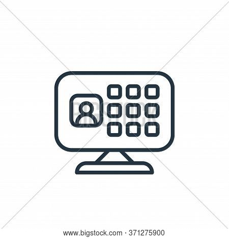 Video Conference Vector Icon. Video Conference Editable Stroke. Video Conference Linear Symbol For U