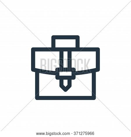 Briefcase Vector Icon. Briefcase Editable Stroke. Briefcase Linear Symbol For Use On Web And Mobile