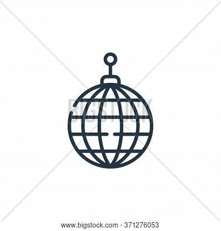 Disco Ball Vector Icon. Disco Ball Editable Stroke. Disco Ball Linear Symbol For Use On Web And Mobi