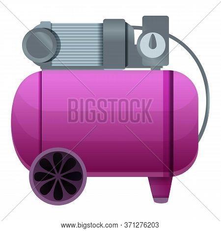Cylinder Air Compressor Icon. Cartoon Of Cylinder Air Compressor Vector Icon For Web Design Isolated