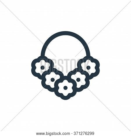 Necklace Vector Icon. Necklace Editable Stroke. Necklace Linear Symbol For Use On Web And Mobile App