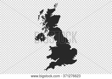 Uk Or England Map With Gray Tone On  Png Or Transparent  Background,illustration,textured , Symbols