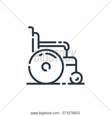 Wheelchair Vector Icon. Wheelchair Editable Stroke. Wheelchair Linear Symbol For Use On Web And Mobi