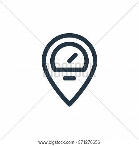 Speedometer Vector Icon. Speedometer Editable Stroke. Speedometer Linear Symbol For Use On Web And M