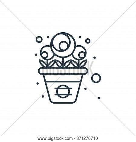 Flower Pot Vector Icon. Flower Pot Editable Stroke. Flower Pot Linear Symbol For Use On Web And Mobi