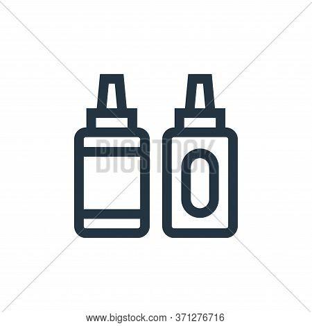 Sauce Bottle Vector Icon. Sauce Bottle Editable Stroke. Sauce Bottle Linear Symbol For Use On Web An