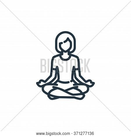 Yoga Pose Vector Icon. Yoga Pose Editable Stroke. Yoga Pose Linear Symbol For Use On Web And Mobile