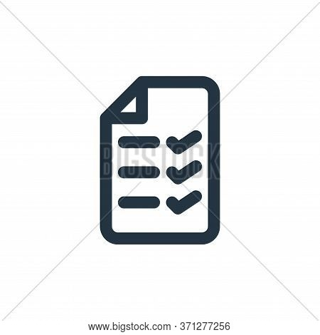 List Vector Icon. List Editable Stroke. List Linear Symbol For Use On Web And Mobile Apps, Logo, Pri