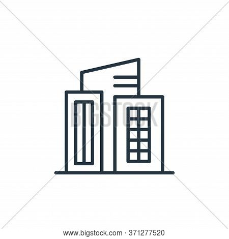 Building Vector Icon. Building Editable Stroke. Building Linear Symbol For Use On Web And Mobile App
