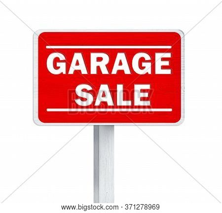 Sign With Phrase Garage Sale On White Background