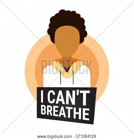 African American Man Against Racial Discrimination I Cant Breathe Black Lives Matter Blackout Tuesda