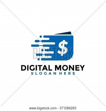 Fast Money Digital Transaction Logo Design Template. Fast Wallet Logo Vector.