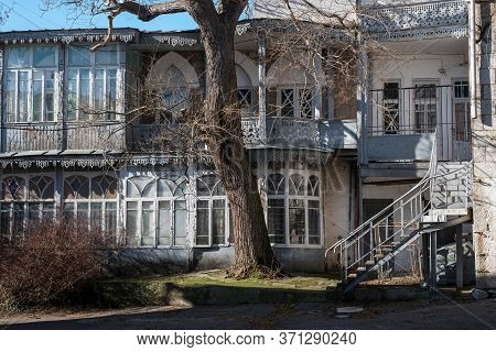 An Old Abandoned 19th Century House Decorated With Carvings