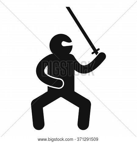 Asian Ninja Icon. Simple Illustration Of Asian Ninja Vector Icon For Web Design Isolated On White Ba