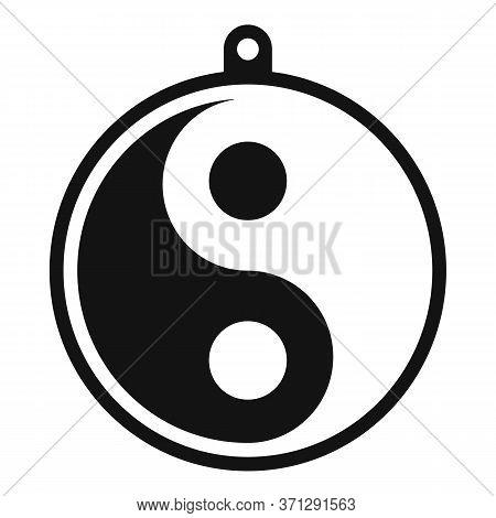 Yin Yang Medallion Icon. Simple Illustration Of Yin Yang Medallion Vector Icon For Web Design Isolat