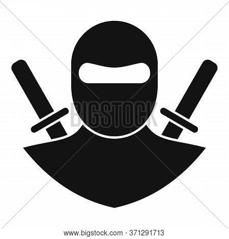 Karate Ninja Icon. Simple Illustration Of Karate Ninja Vector Icon For Web Design Isolated On White