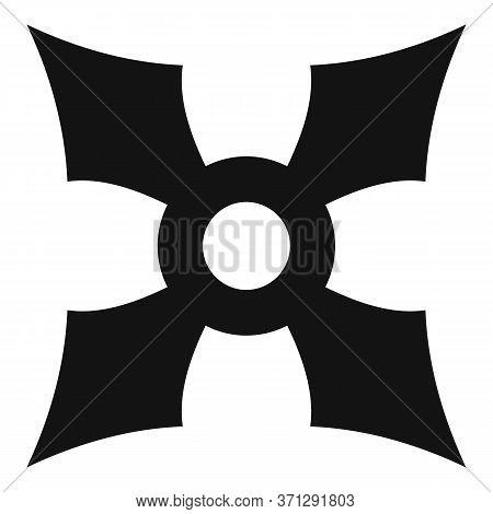 Ninja Steel Star Icon. Simple Illustration Of Ninja Steel Star Vector Icon For Web Design Isolated O