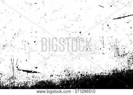 Vintage Distress Texture, Great Design For Any Purposes. Distressed Backdrop. Old Retro Grunge. Blac