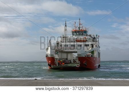 Large Car Ferry From Punta Delgada To Tierra Del Fuego, Argentina 4