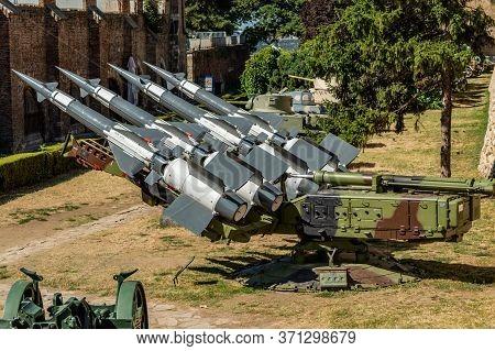 Belgrade / Serbia - July 30, 2017: Battery Of Yugoslav Version Of The Soviet S-125 Neva Missile Syst