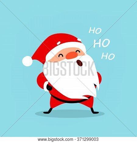 Santa Claus Ho Ho Ho, Isolated Element For Festive Design, Vector Illustration