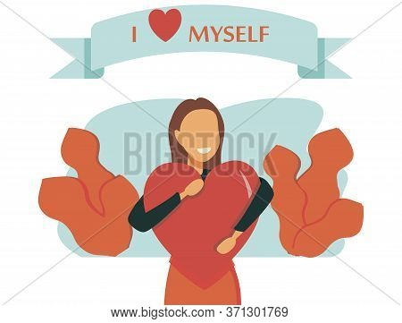 Self Esteem Vector Illustration. Flat Tiny Personal Confidence Persons Concept. Psychological Mindse