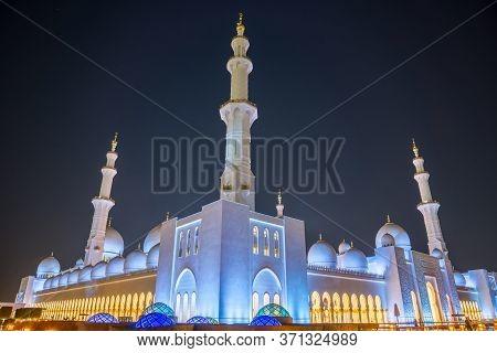 Sheikh Zayed Mosque In Abu Dhabi, Uae, Middle East.