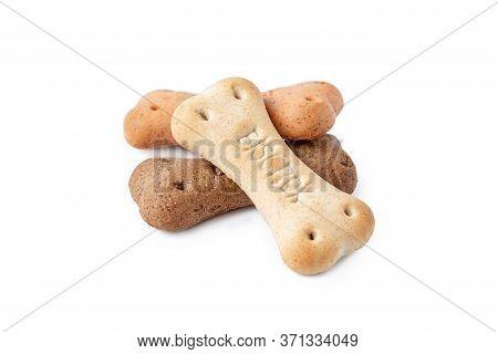 Latvia, Riga, June 12, 2020: Pedigree Biscrok Original Biscuits. Crisp Snack For Dogs. Dog Biscuits
