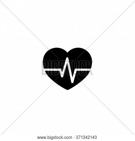 Heart, Cardiogram, Cardiology Icon. Vector On Isolated White Background. Eps 10 Vector.