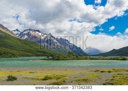 Laguna Nieta glacial lake in Los Glaciares National park in Argentina