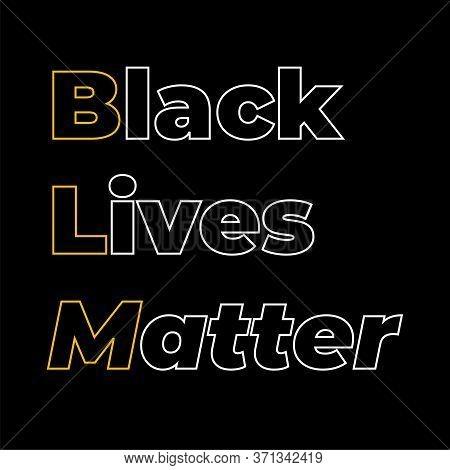Stop Racism Calligraphic Text Vector Poster.black Lives Matter Text Vector Vintage. Stop Racism. I C