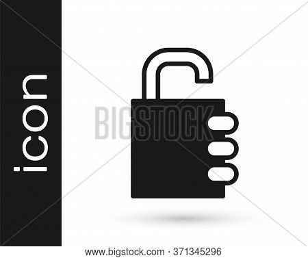 Grey Safe Combination Lock Icon Isolated On White Background. Combination Padlock. Security, Safety,