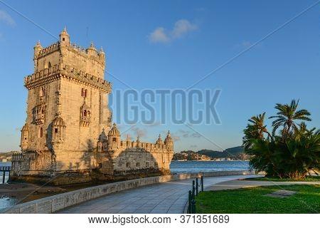 View At The Belem Tower Or Torre De Belem
