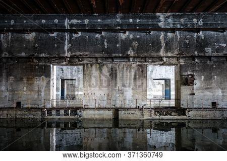 Bordeaux, France - Bordeaux/france - April 18, 2018 : Betasom Submarine Base Bunker.