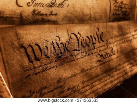The United States Constitution, With We The People And Article 1 Text