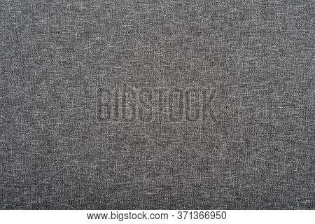 Textured Grey Fabric Background. Gray Texture Of Fabric.