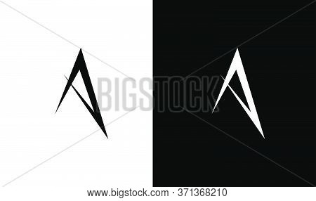Monogram For Letter A, Sharp Concept. Vector Logo Element For Companies Branding